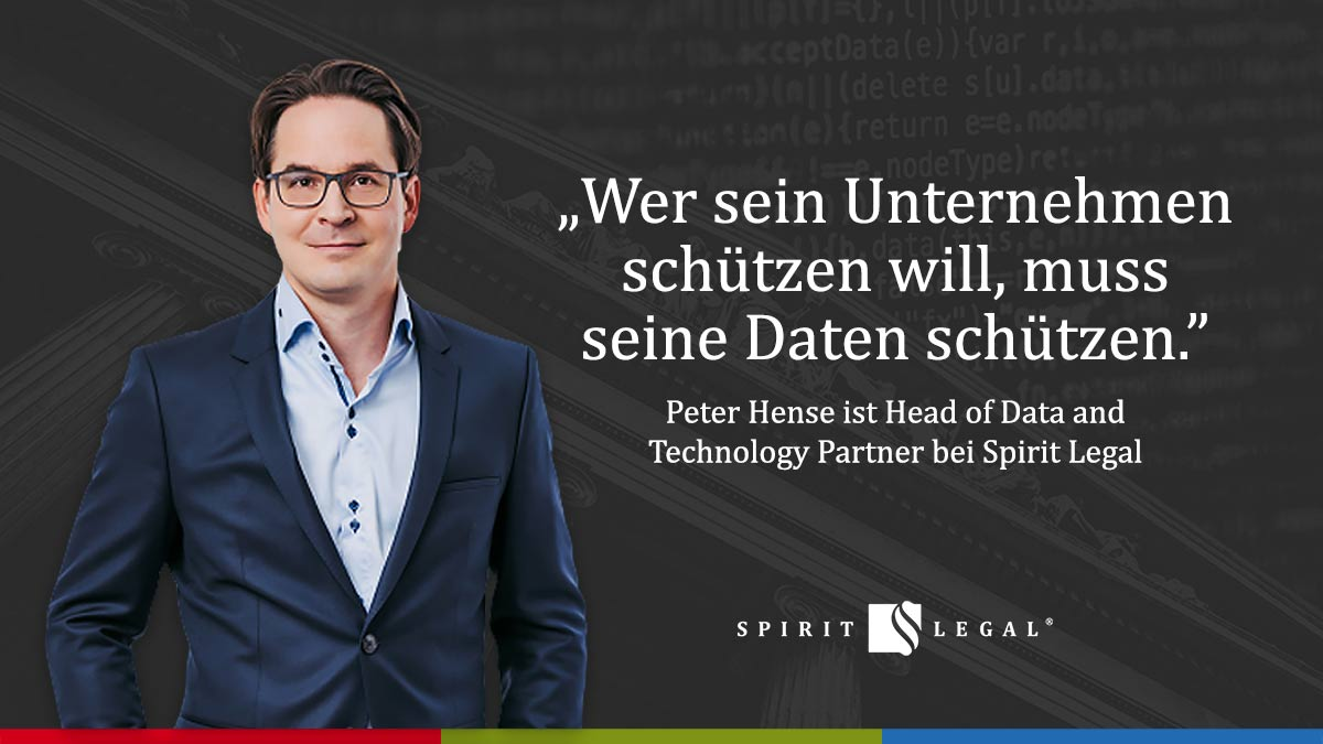 Peter Hense ist Head of Data and Technology Partner bei Spirit Legal